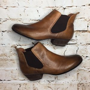 Vince Camuto Ombré Leather Slip On Booties